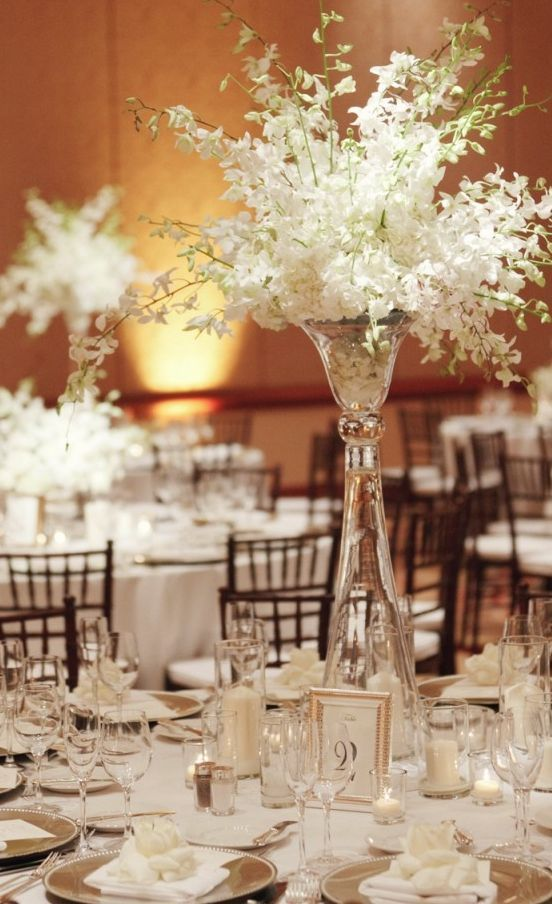 Photographer: Marisa Holmes Photography; Wedding reception centerpiece idea