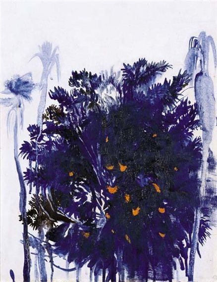 Moreton Bay Fig and Palm Trees - Brett Whiteley