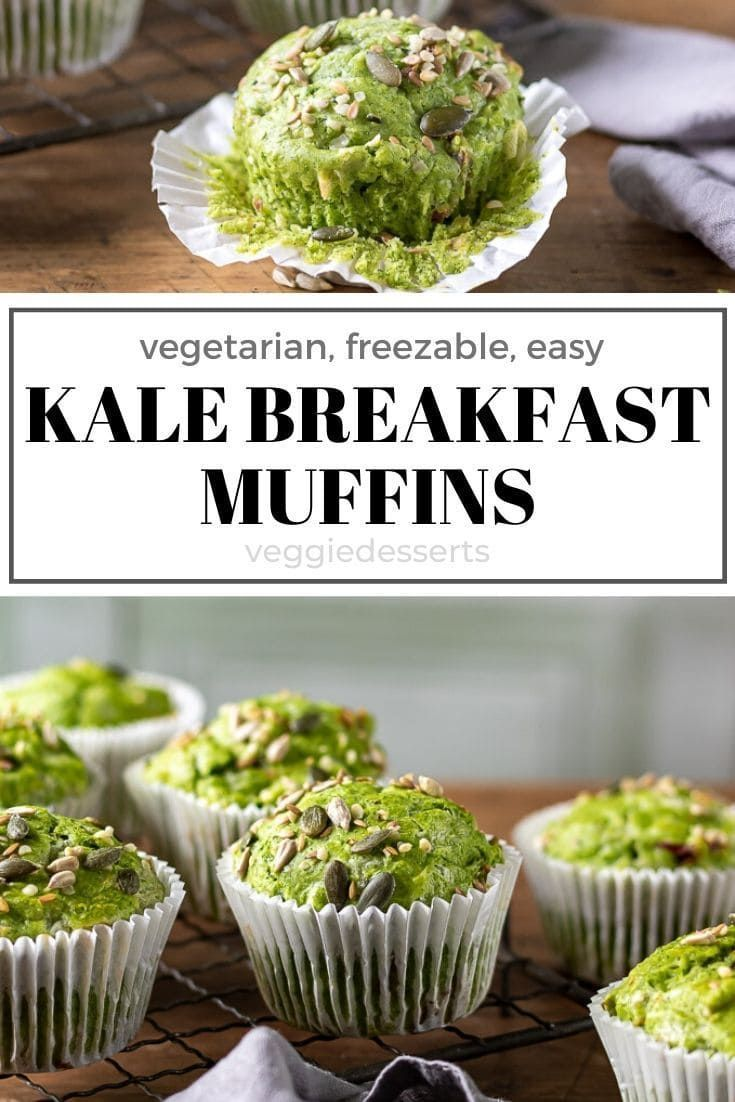 Kale Green Muffins Are A Tasty Breakfast Or Snack A Naturally Green Hidden Vegetable Recipe That S Full Of Cheese A Recipes Yummy Healthy Breakfast Vegetarian
