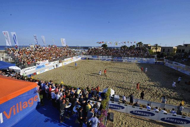 "Visione suggestiva del beach stadium ""Guarnieri di Terracina"