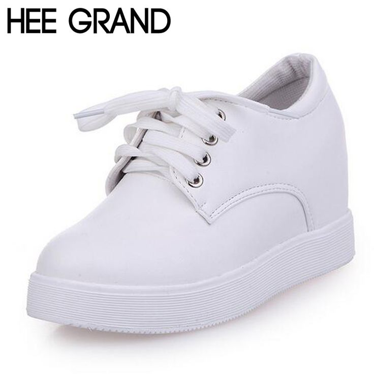 HEE GRAND Women's Shoes Height Increasing Flat Platform Loafers Spring Lace up Shoes Woman Casual All-match Shoes XWC1081