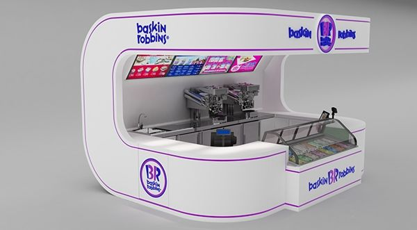 BASKIN & ROBBINS KIOSK made in 3d max and Vray on Behance