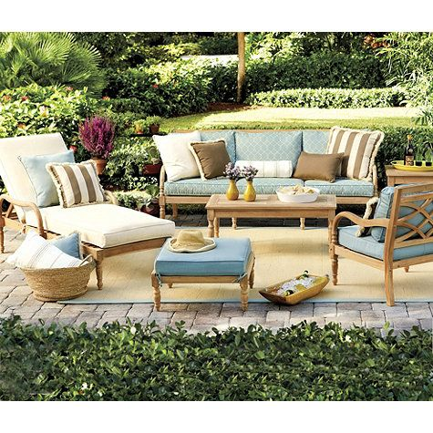 Ceylon teak outdoor furniture collection  by Ballard Designs     love this  color scheme. 16 best images about Outdoor Decor Inspirations  on Pinterest