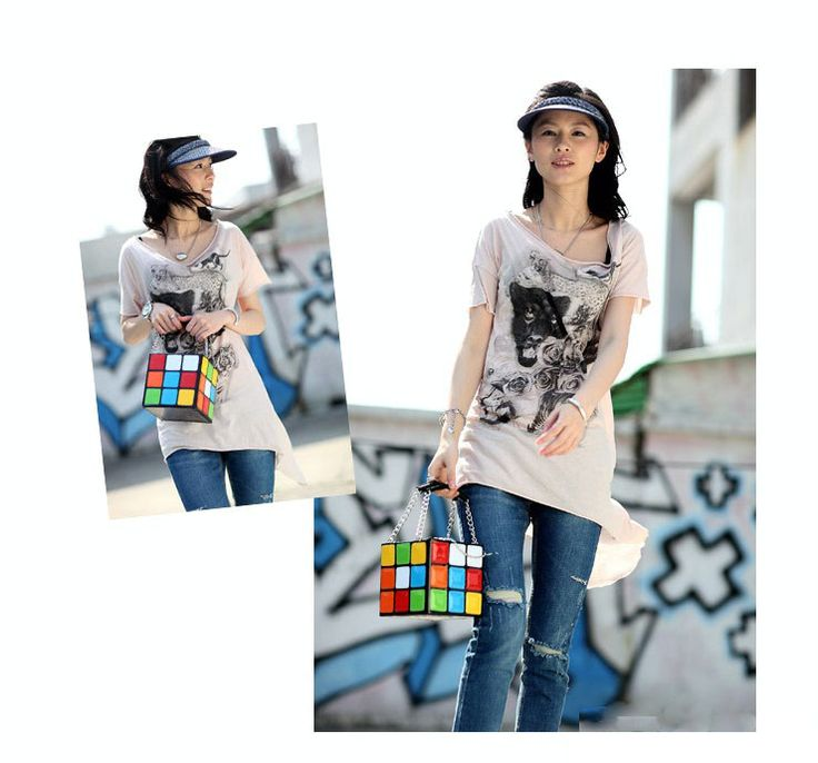 Kawaii Clothing | Bolso Cubo Rubik / Rubik Cube Bag WH192 | Online Store Powered by Storenvy