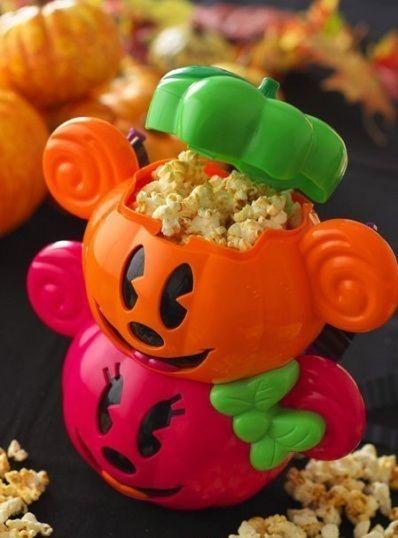 Tokyo Disney Resort Popcorn Bucket Halloween 2013 pumpkin Mickey&Minnie #TokyoDisneyResort