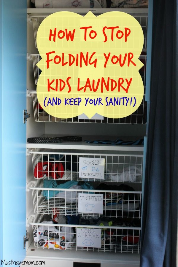 How To Stop Folding Laundry (And Keep Your Sanity!) - This mom shares her system and despite being very Type A it works! Musthavemom.com #EverydaySharpie #PMedia #ad