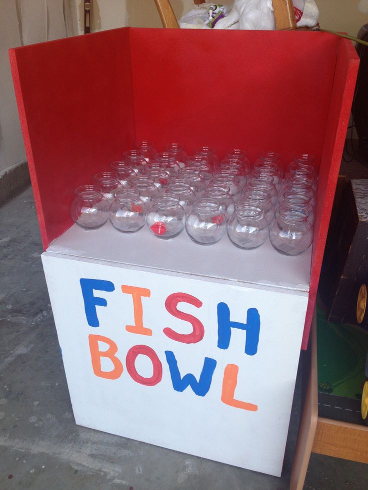 My fish bowl game for carnival party.