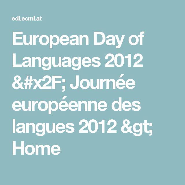 European Day of Languages 2012 / Journée européenne des langues 2012 > Home
