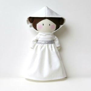 Image of My Teeny-Tiny Doll® - Princess Leia plushie love geek gift star wars toy