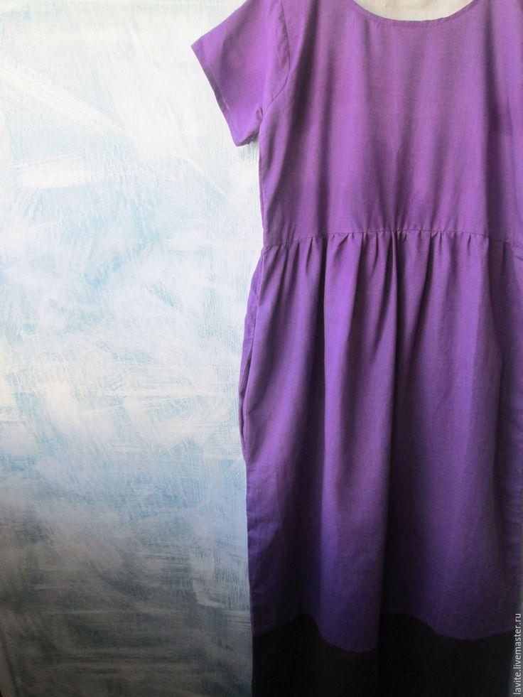 Купить фиолетовое простое - фиолетовый, простое платье, летнее платье, фиолетовое платье, бохо, кежуал