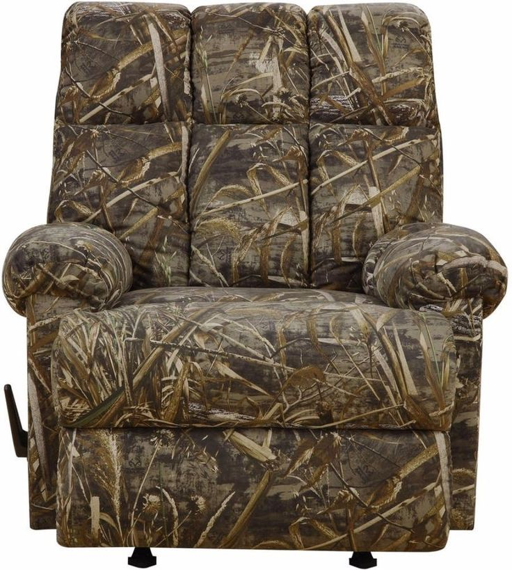 Rocker Recliner Chair Cushion Dual Function Realtree Camouflage Sturdy Frame  #camouflage #sturdyframe #dualfunction