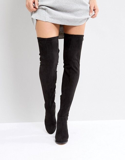 57f866724fc ASOS KINGSHIP WIDE LEG Heeled Over The Knee Boots  79.00