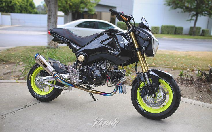Nick Nguyen's Honda Grom #steadygarage #minimoto #grom125 #hondagrom125 #grom #takegawa