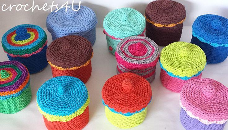 gratis patroon gehaakt doosje | crochets4U