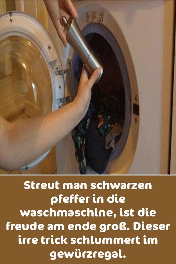 Streut man schwarzen Pfeffer in die Waschmaschine, ist die Freude am Ende groß. Dieser irre Trick schlummert im Gewürzregal