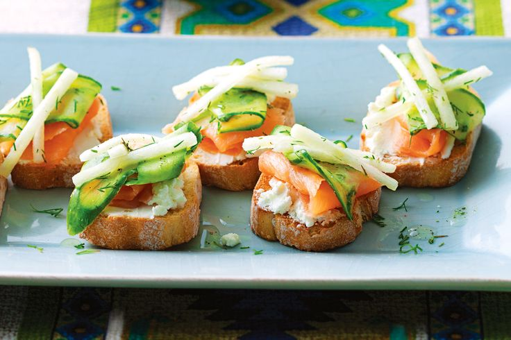 Salmon canapes, Canapes and Salmon on Pinterest