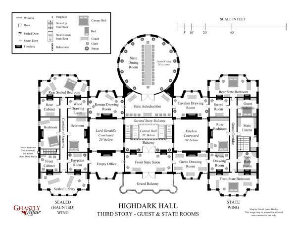 Highdark Hall A Setting For Gothic Roleplaying The Engine Of Oracles Mansion Floor Plan Mansion Plans Floor Plans