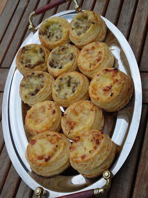 Nem vagyok mesterszakács: Töltött leveles pogácsa kosárkák – most hagymás baconos és pirított gombás - sok-sok sajttal