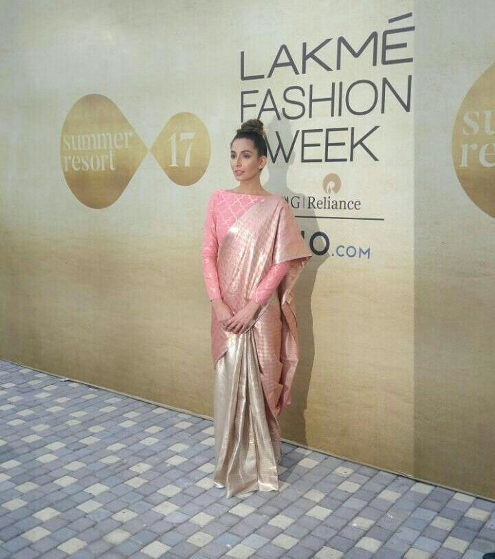 Monica Dogra muse of Hemang Agarwal at the Lakmé Fashion Week