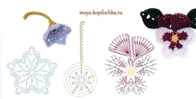Вязаные цветы. 100 цветочных мотивов для вязания крючком