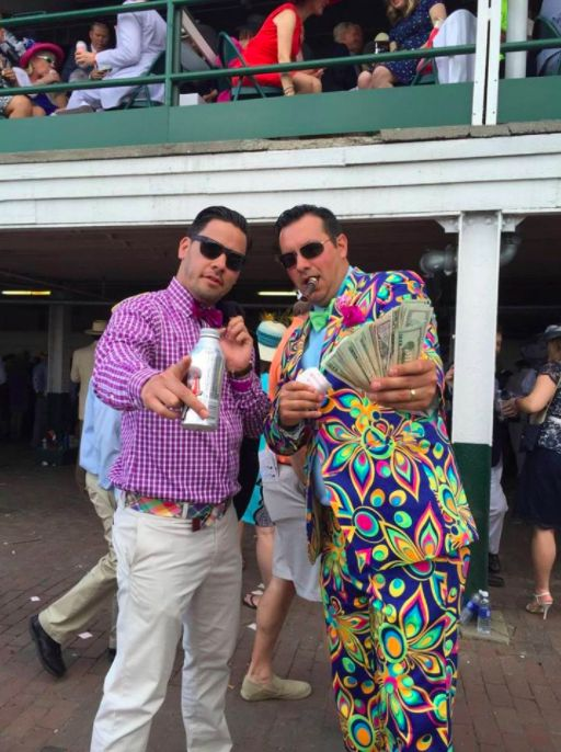Kentucky Derby Fashion on point with this Loudmouth Shagadelic Blue suit! #DerbyOutfits #LoudmouthNation