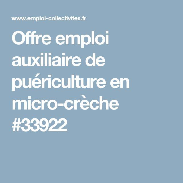 Offre emploi auxiliaire de puériculture en micro-crèche #33922