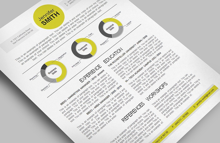 #Resume Template - templates give you full control over your Resume. Editable with Microsoft Word, Excel. cvspecial.com