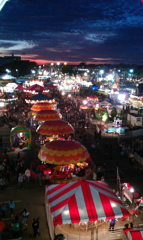 Louisianna state fair Shreveport 2011, my cousins took me here once, it was fun!!