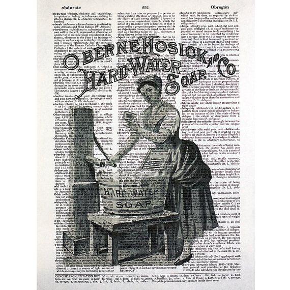 Vintage Laundry Soap Print on a Vintage by glasslionstudio on Etsy, $9.99