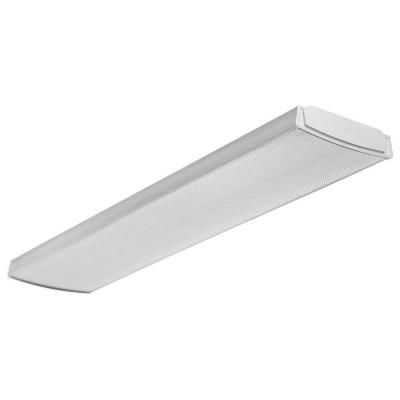 Lithonia Lighting 4 ft. Flush Mount Ceiling White LED Wraparound Light-LBL 4 - The Home Depot