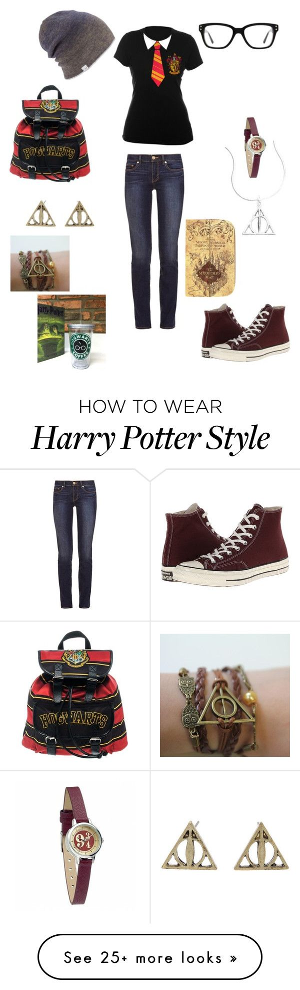 """Harry Potter nerd"" by hadespirit22 on Polyvore featuring Coal, Converse and Tory Burch"