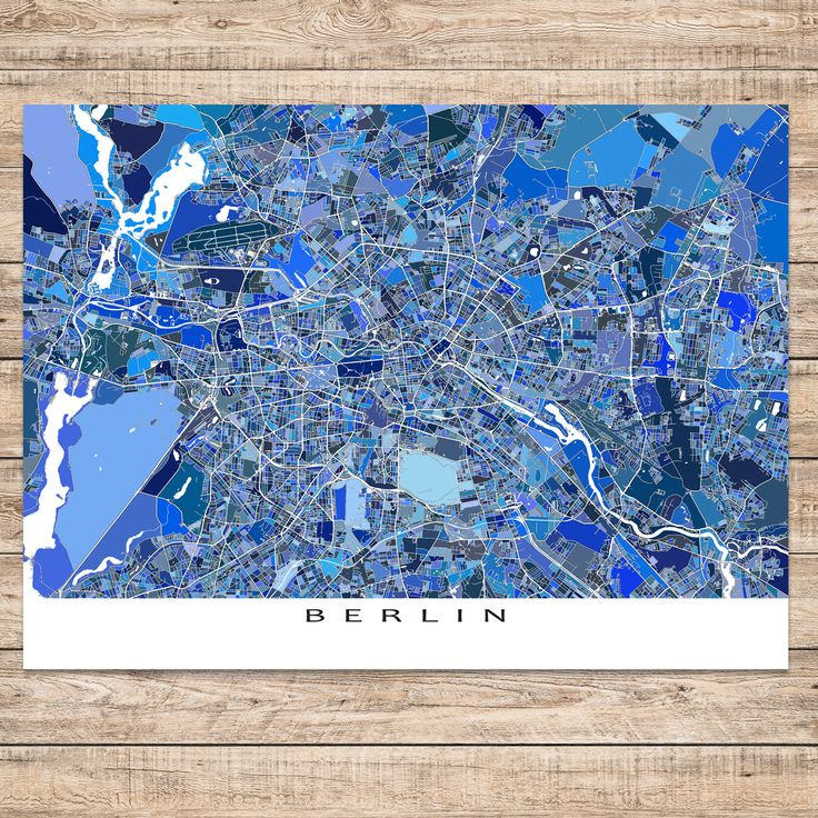 Berlin Map Print Germany 28 best Germany