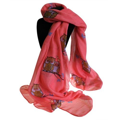 Bit Posh Scarves Wholesale - Hip AngelsAnother beautiful range of  wholesale scarves at hipangels.com that brings the joy to every day.  This red scarf is printed with Sleepy Owls and come in pack of six assorted colours.  #Owls_Scarves #Great_Scarves #Pink_Scaarves #Summer_Colour_Scarves