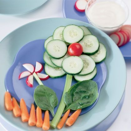 Beauti food for kids.  Made for you too to snitch some from their plate!