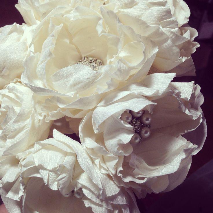 Vintage Bride ~ Beautiful silk flowers by Nic's Button Buds www.nicsbuttonbuds.com.au #bouquet