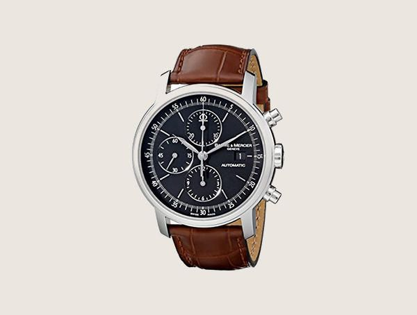 Baume And Mercier Moa08589 Classima Executive Swiss Automatic With Brown Leather Band Mens Nice Watches