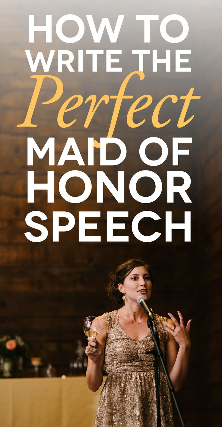 Bride to Be Reading ~  maid of honour delivering a speech with how to write a maid of honor speech text over it