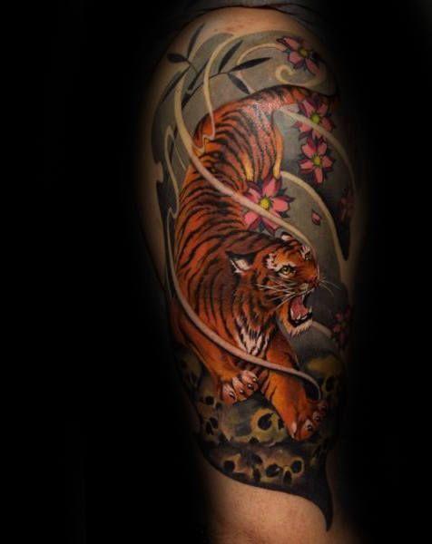 70 Japanese Tiger Tattoo Designs For Men Masculine Ideas Tattoos