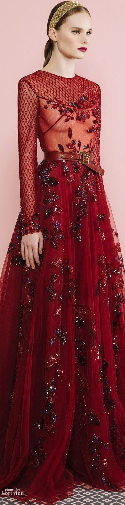 *.* Georges Hobeika Fall 2016 RTW. Red
