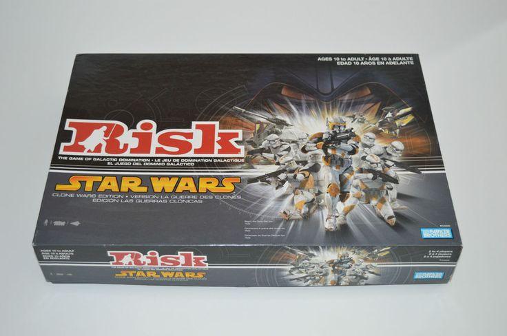 STAR WARS RISK BOARD GAME Clone Wars Edition English & French Bilingual Edition