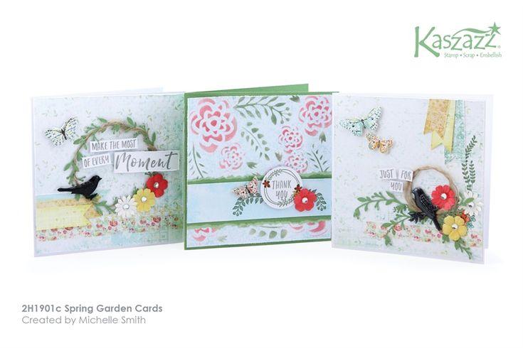 2H1901c Spring Garden Cards