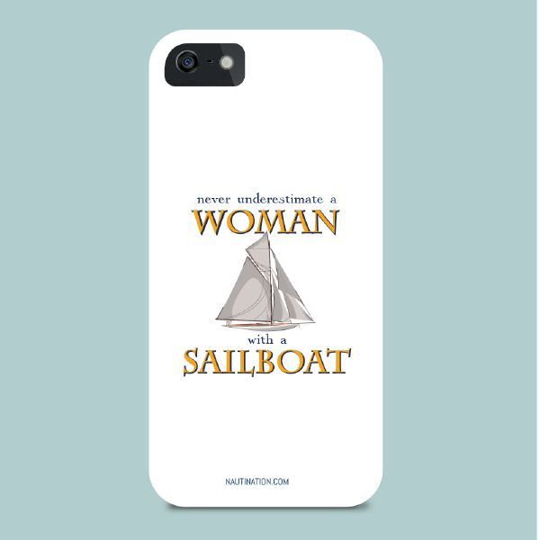 Smart Phone Cover - Woman with a sailboat | Nautination gifts for sailors…