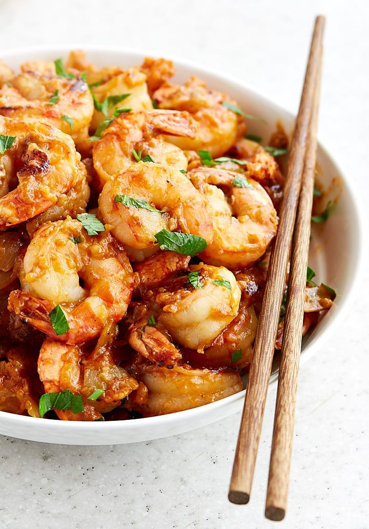 Hot and spicy Hunan shrimp is so delicious it will make you forget about take-out for good. Serve over steamed rice or vegetables for a healthier version.