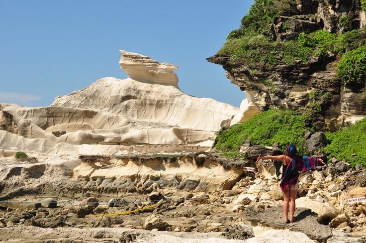 Kapurpurawan Rock Formation At Bangui, Ilocos Norte.