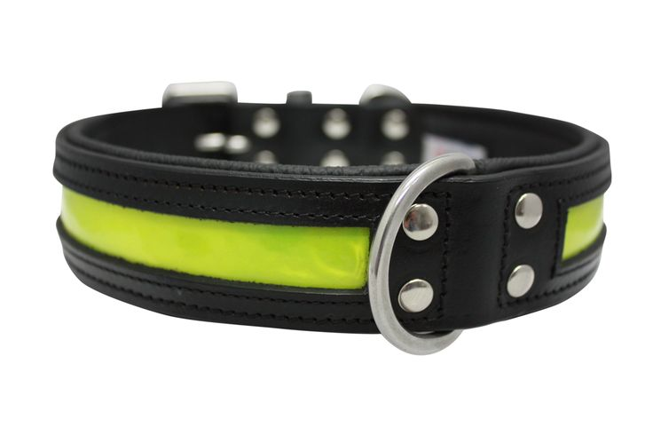 Angel's NEW leather Reflective dog collars and leashes #reflectivecollar #dogcollar #safetycollar
