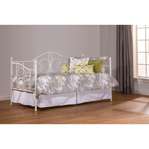 Ruby White Daybed with Suspension Deck and Roll Out Trundle ...