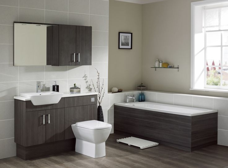 This Aquapure Bathroom Suite In Avola Grey From Frontline Is Perfect For  Storing All Your Bathroom Knick Knacks Stylishly!