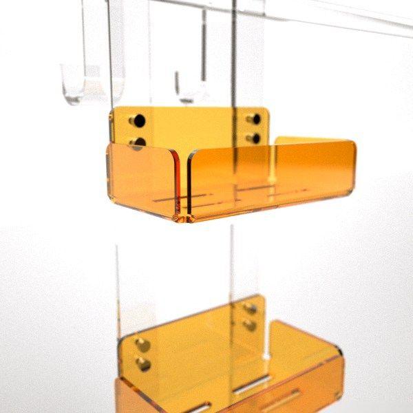 Mensola Box Doccia Doppia Arancione