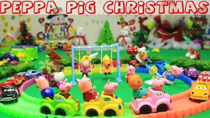 Peppa Pig Episodes - Peppa Pig Christmas Present Happy Family and Friend...