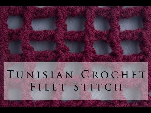 Tunisian Crochet Filet Stitch - YouTube